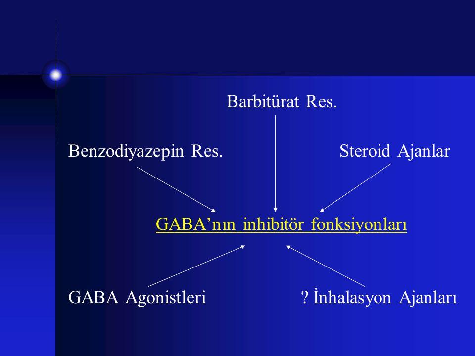Barbitürat Res. Benzodiyazepin Res. Steroid Ajanlar