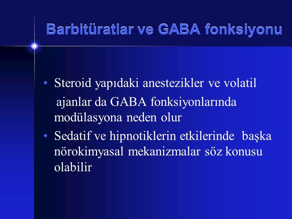 Barbitüratlar ve GABA fonksiyonu