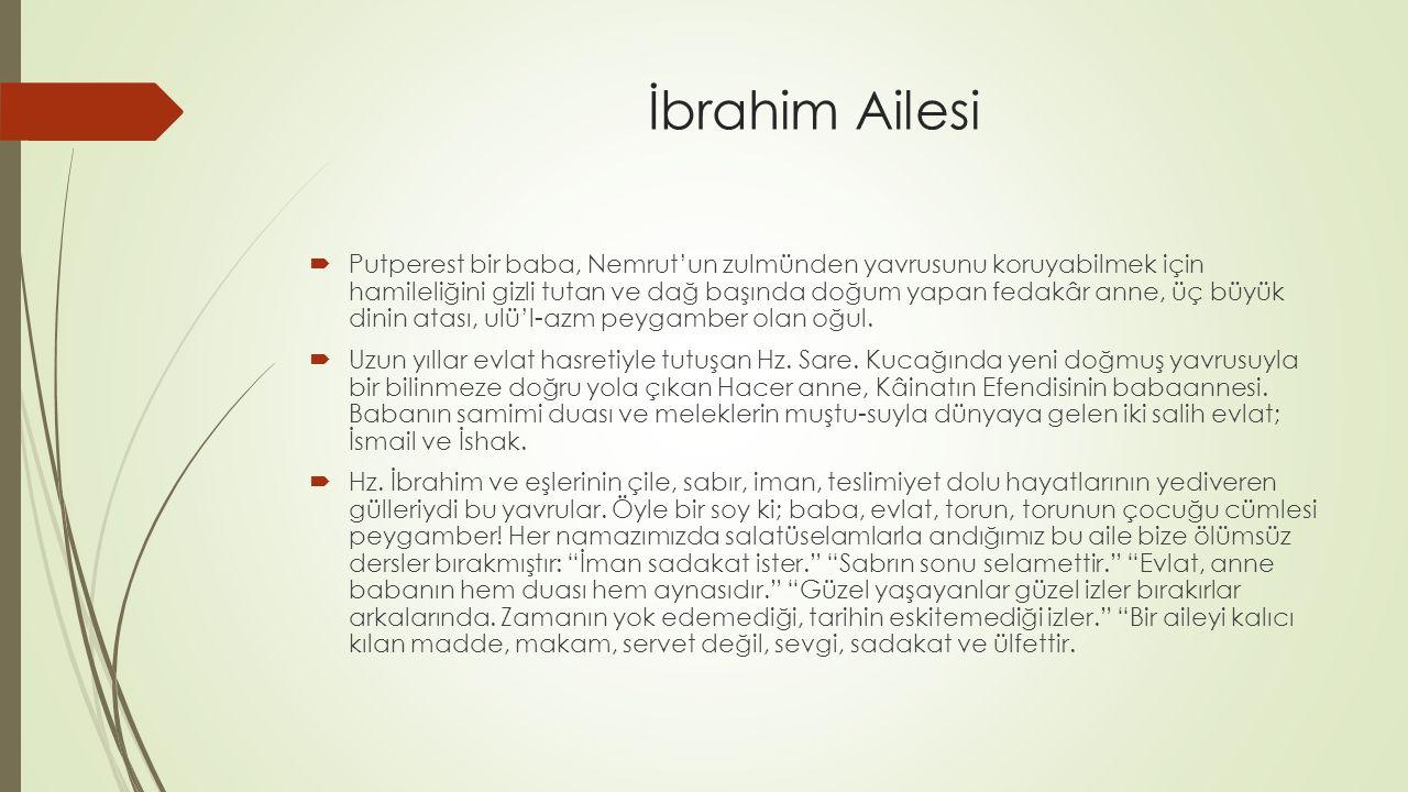 İbrahim Ailesi