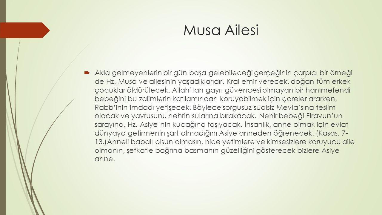 Musa Ailesi
