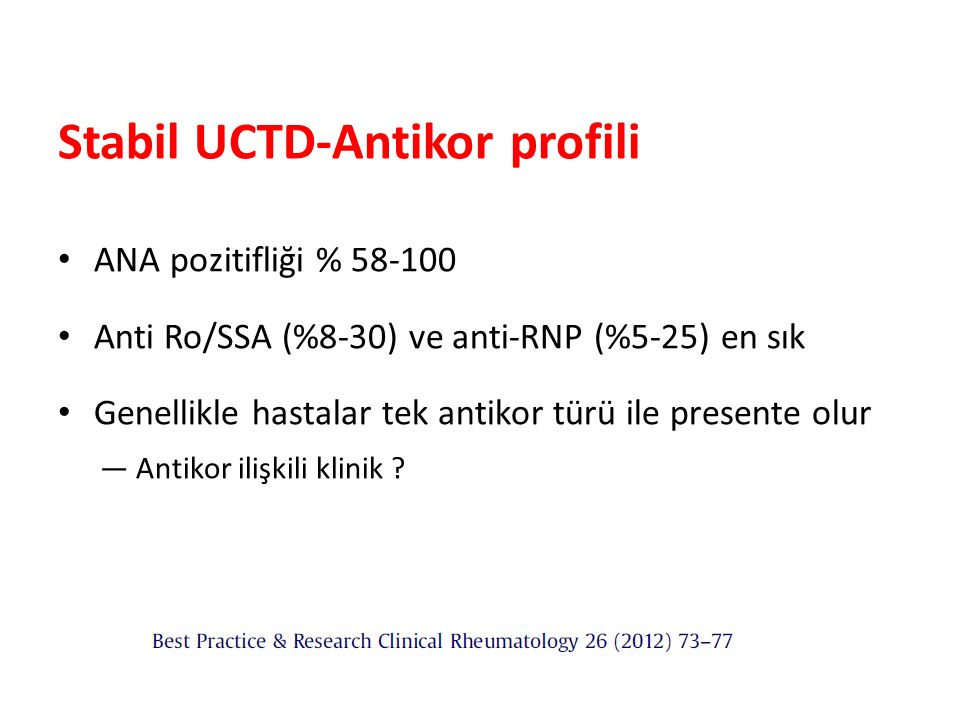 Stabil UCTD-Antikor profili