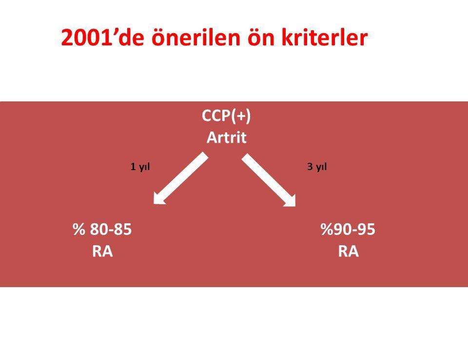 2001'de önerilen ön kriterler