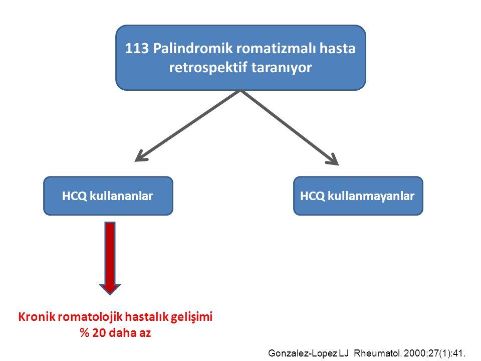 113 Palindromik romatizmalı hasta retrospektif taranıyor