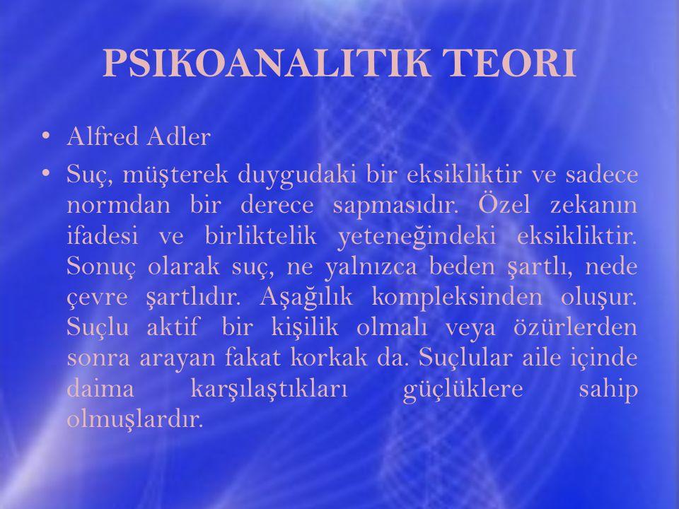 PSIKOANALITIK TEORI Alfred Adler