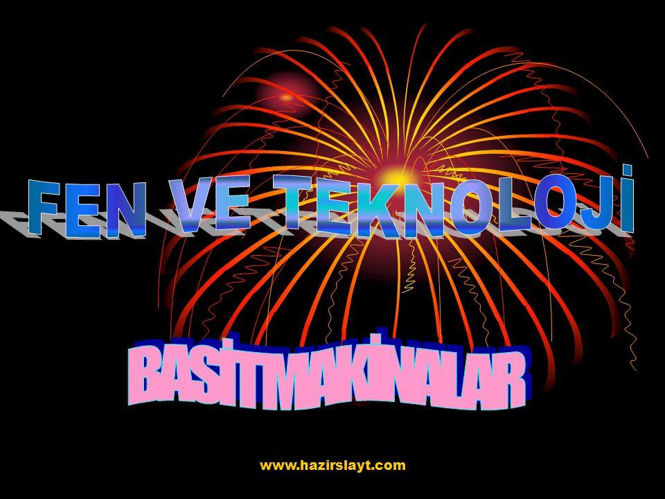 FEN VE TEKNOLOJİ BASİT MAKİNALAR www.hazirslayt.com