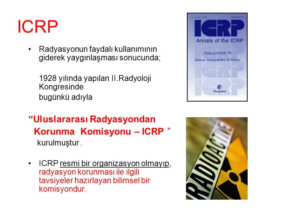 ICRP Uluslararası Radyasyondan Korunma Komisyonu – ICRP