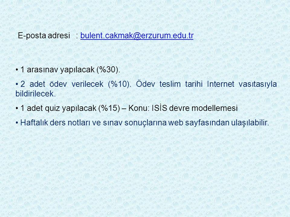 E-posta adresi : bulent.cakmak@erzurum.edu.tr