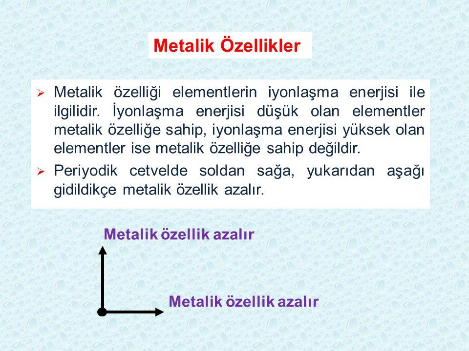 Metalik Özellikler