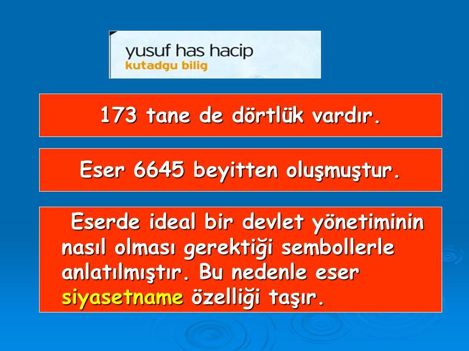 Eser 6645 beyitten oluşmuştur.