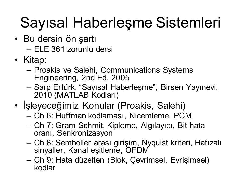 Sayısal Haberleşme Sistemleri