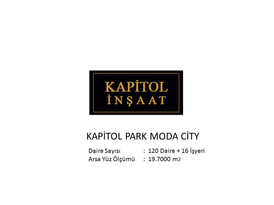 KAPİTOL PARK MODA CİTY Daire Sayısı : 120 Daire + 16 İşyeri