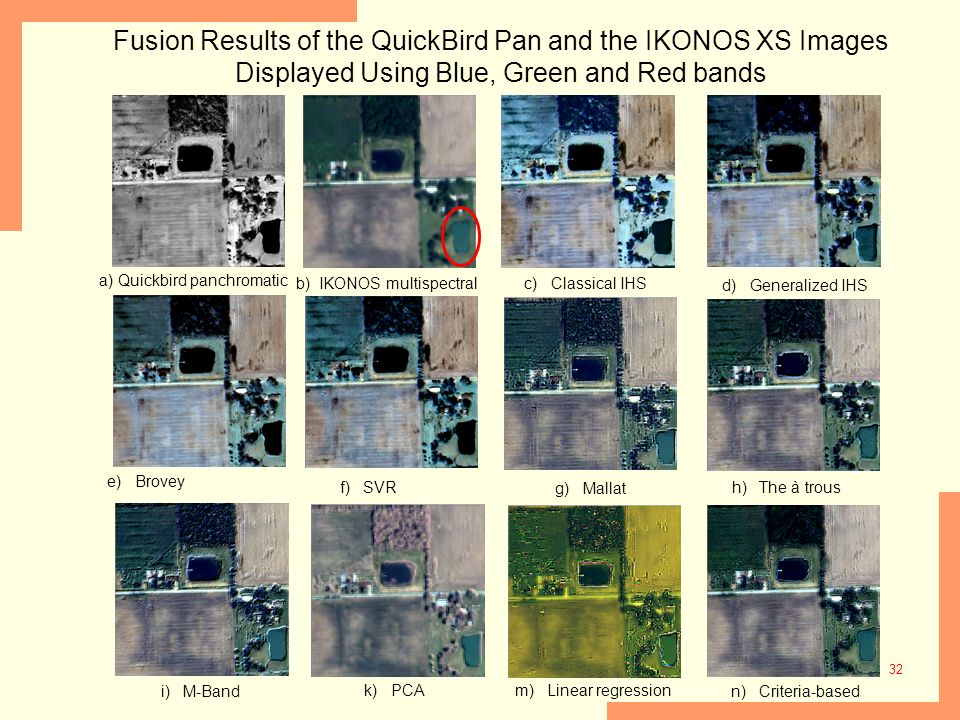 Fusion Results of the QuickBird Pan and the IKONOS XS Images Displayed Using Blue, Green and Red bands