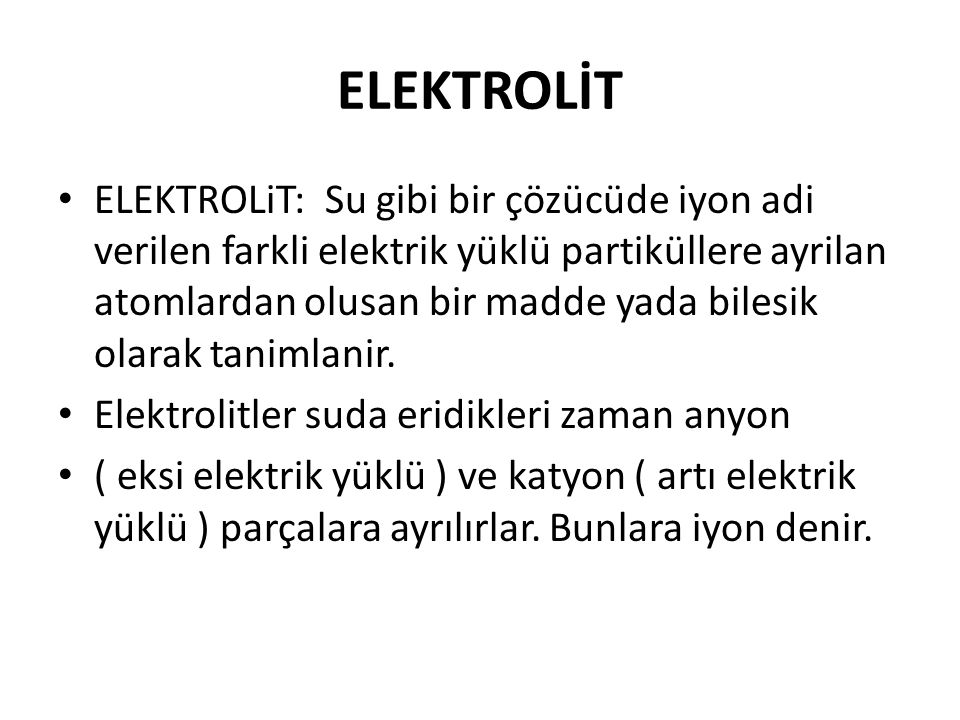 ELEKTROLİT