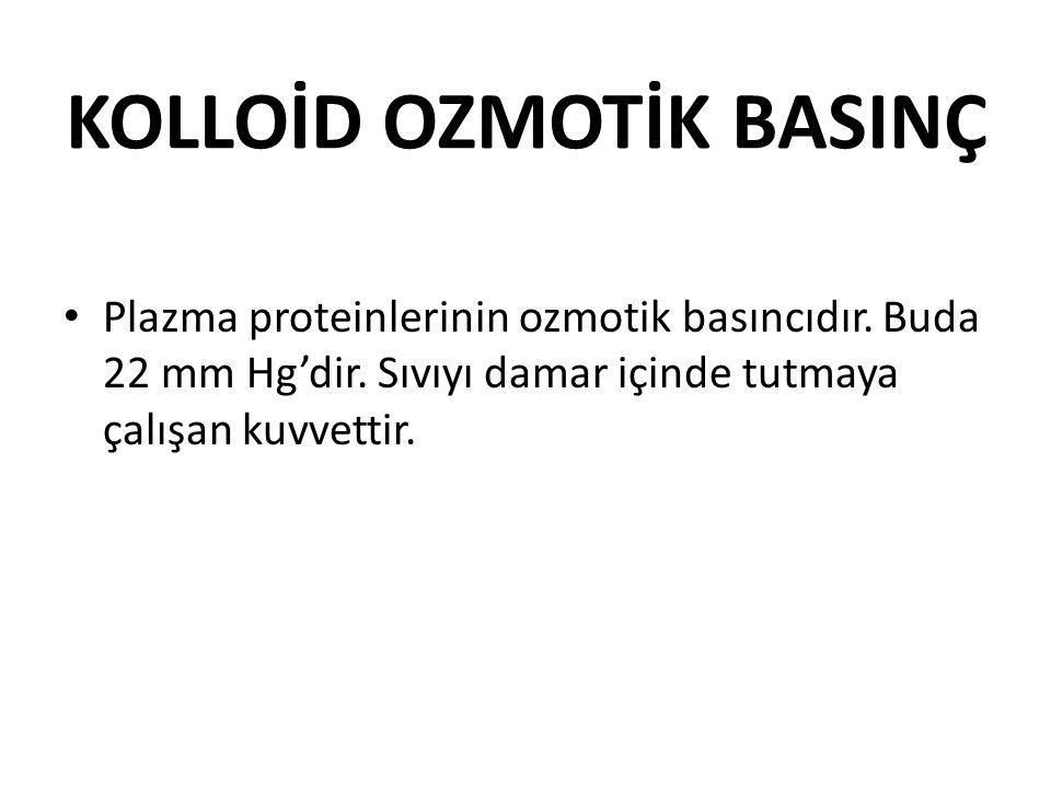 KOLLOİD OZMOTİK BASINÇ