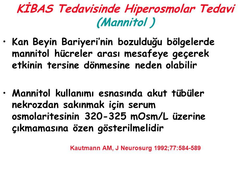 KİBAS Tedavisinde Hiperosmolar Tedavi (Mannitol )