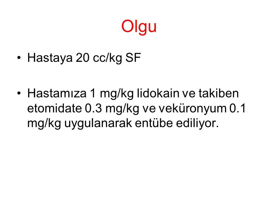 Olgu Hastaya 20 cc/kg SF.