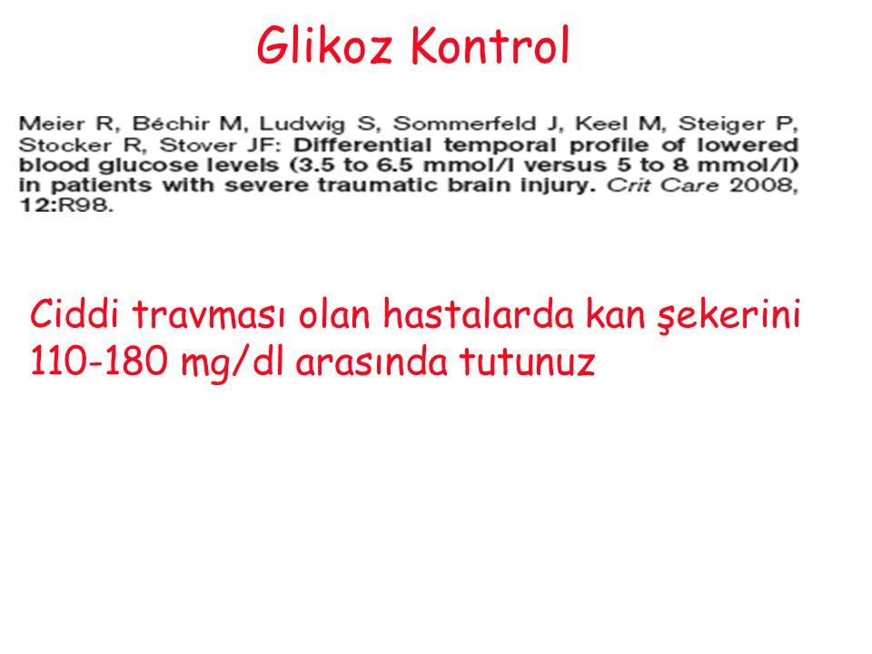 Glikoz Kontrol Ciddi travması olan hastalarda kan şekerini