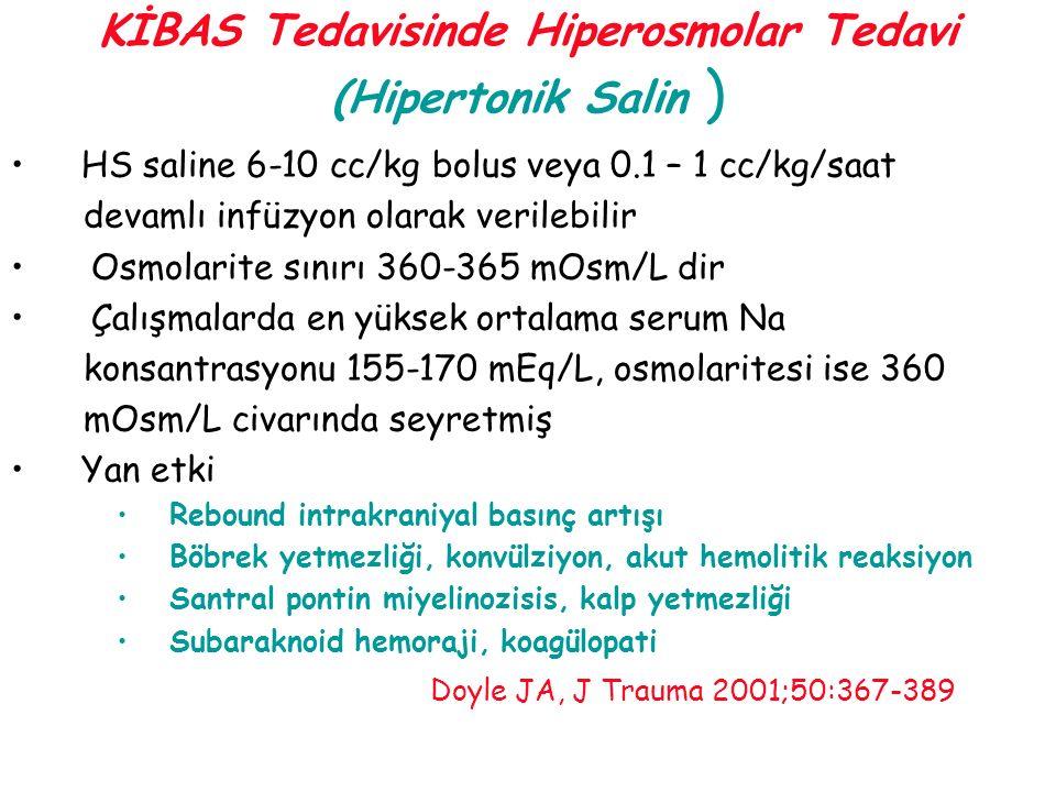 KİBAS Tedavisinde Hiperosmolar Tedavi (Hipertonik Salin )