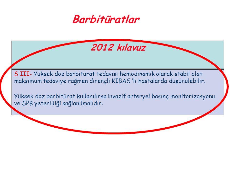 Barbitüratlar 2012 kılavuz