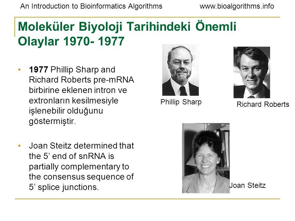 Moleküler Biyoloji Tarihindeki Önemli Olaylar 1970- 1977