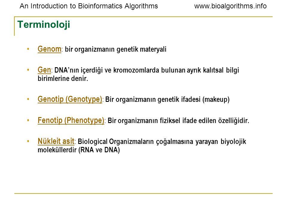 Terminoloji Genom: bir organizmanın genetik materyali