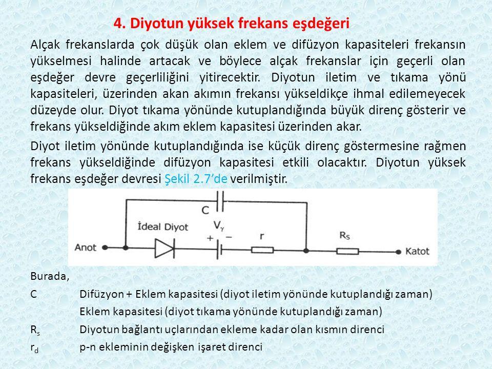 4. Diyotun yüksek frekans eşdeğeri