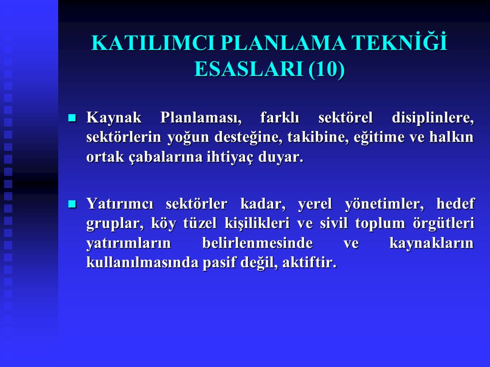 KATILIMCI PLANLAMA TEKNİĞİ ESASLARI (10)