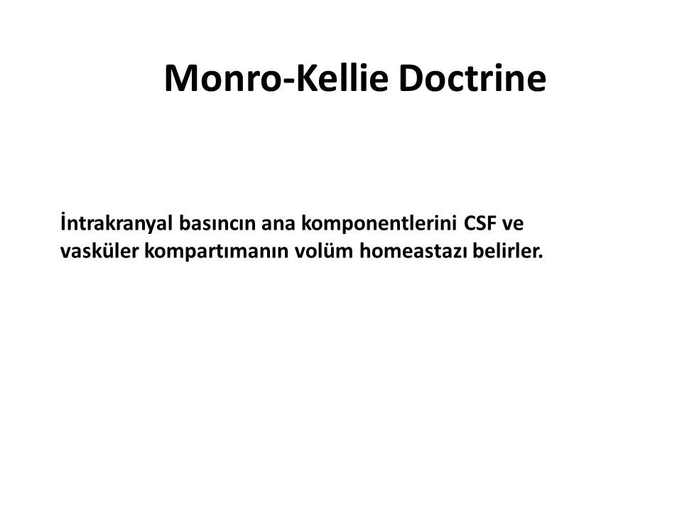 Monro-Kellie Doctrine