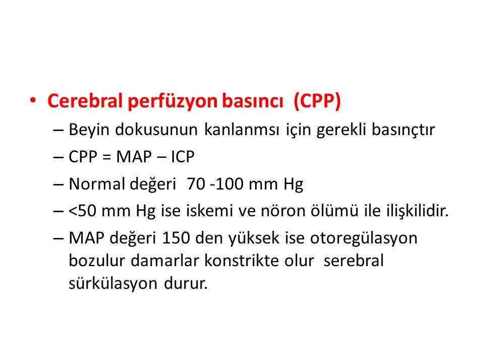 Cerebral perfüzyon basıncı (CPP)