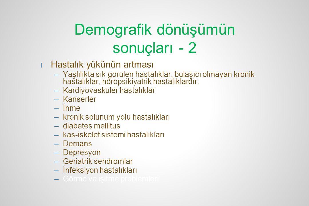 Demografik dönüşümün sonuçları - 2