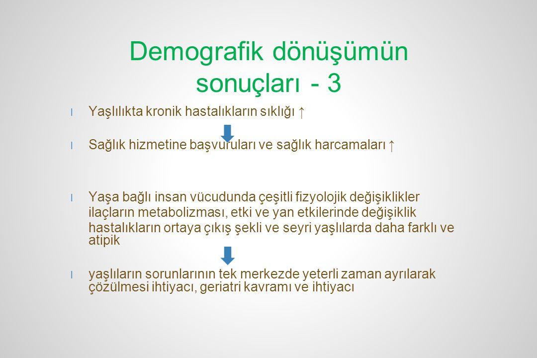 Demografik dönüşümün sonuçları - 3