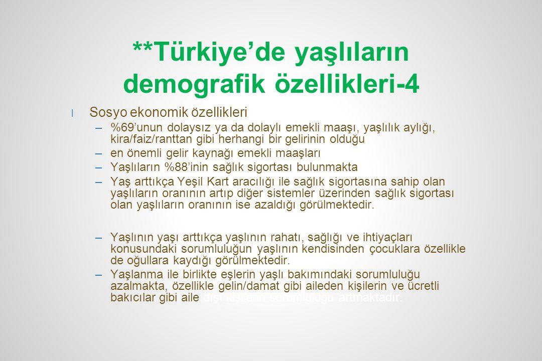 **Türkiye'de yaşlıların demografik özellikleri-4