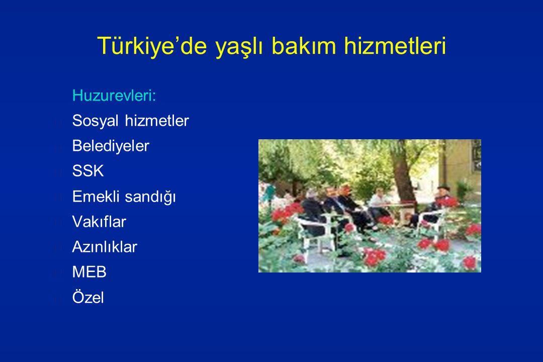 Türkiye'de yaşlı bakım hizmetleri