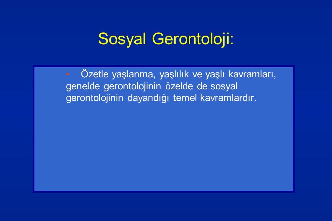 Sosyal Gerontoloji: