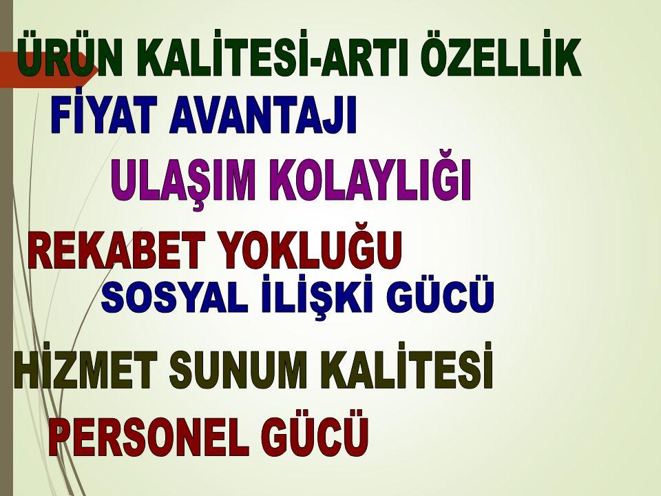 ÜRÜN KALİTESİ-ARTI ÖZELLİK