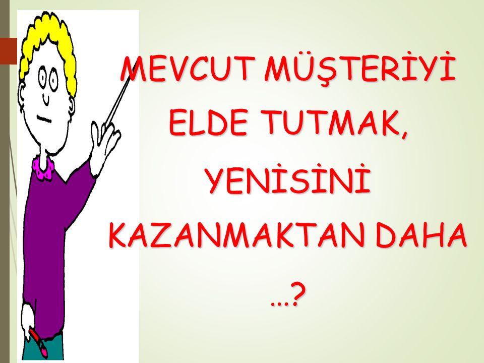 MEVCUT MÜŞTERİYİ ELDE TUTMAK,
