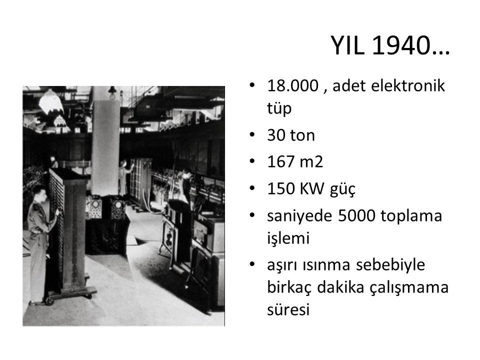 YIL 1940… 18.000 , adet elektronik tüp 30 ton 167 m2 150 KW güç