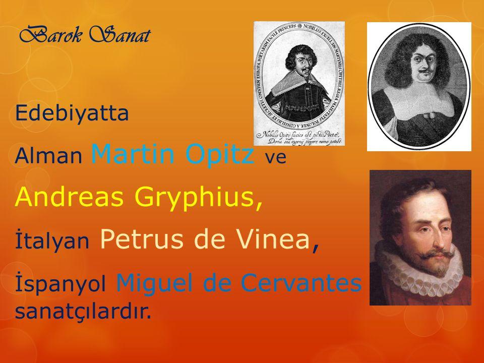 Andreas Gryphius, Barok Sanat Edebiyatta Alman Martin Opitz ve