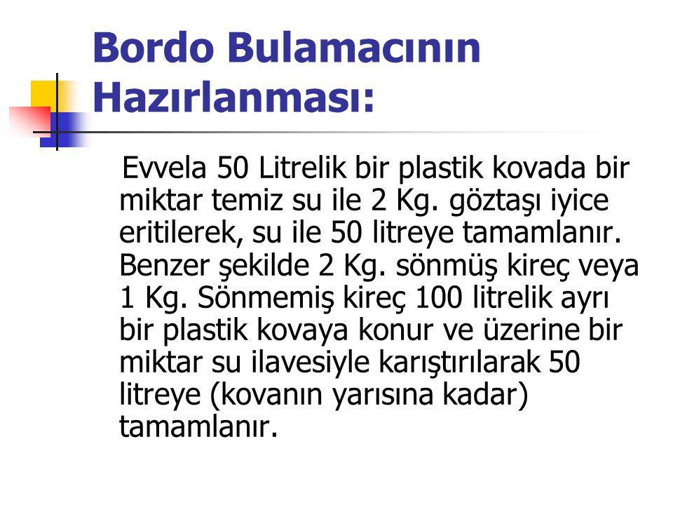 Bordo Bulamacının Hazırlanması: