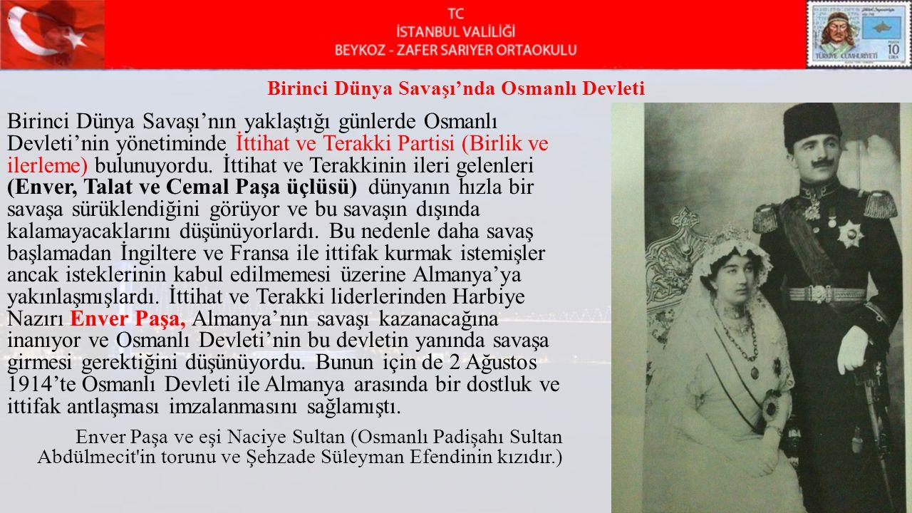 Birinci Dünya Savaşı'nda Osmanlı Devleti