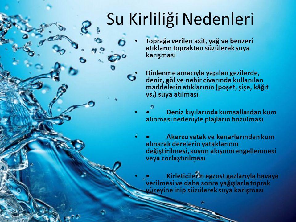 Su Kirliliği Nedenleri