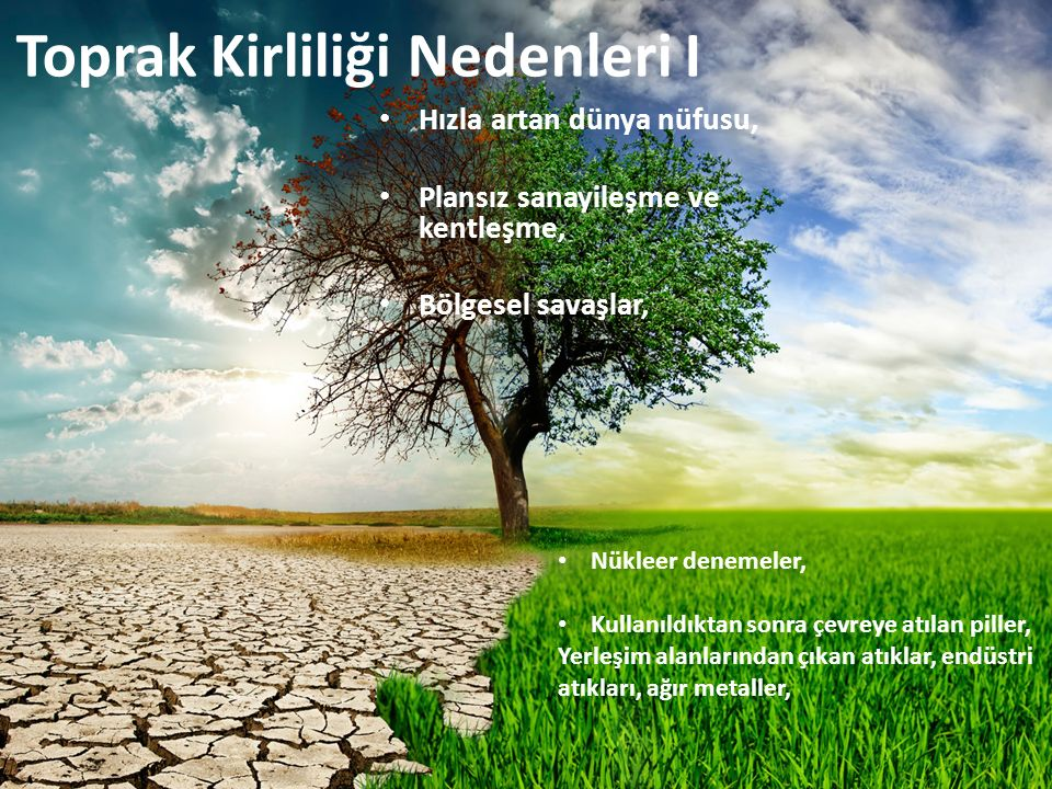 Toprak Kirliliği Nedenleri I