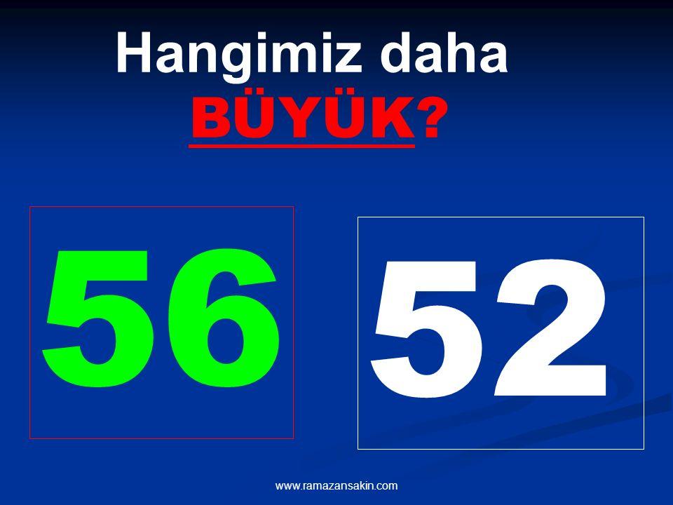 Hangimiz daha BÜYÜK 56 52 www.ramazansakin.com