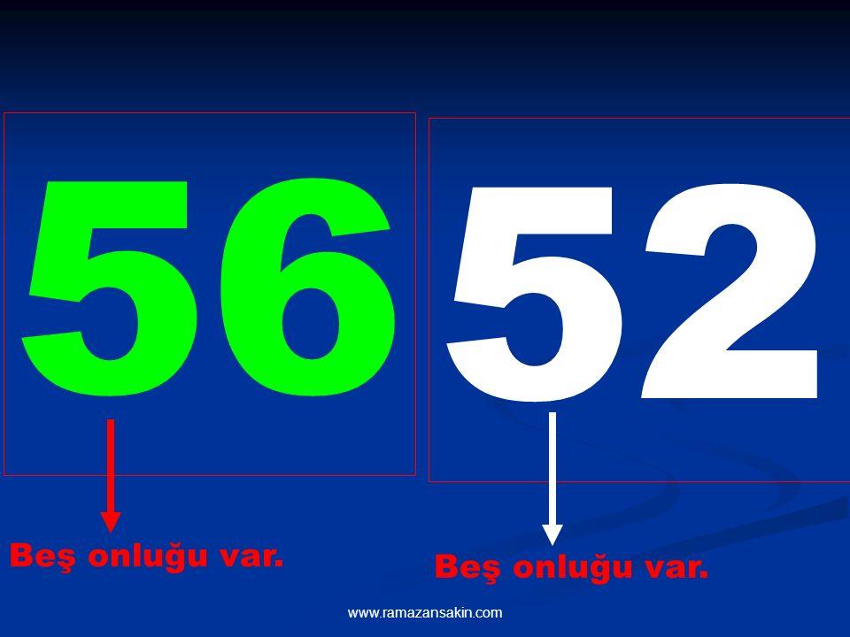 56 52 Beş onluğu var. Beş onluğu var. www.ramazansakin.com