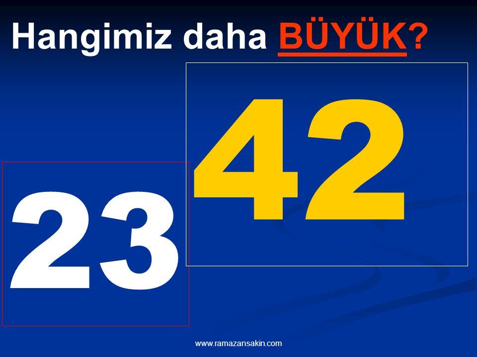 Hangimiz daha BÜYÜK 42 23 www.ramazansakin.com