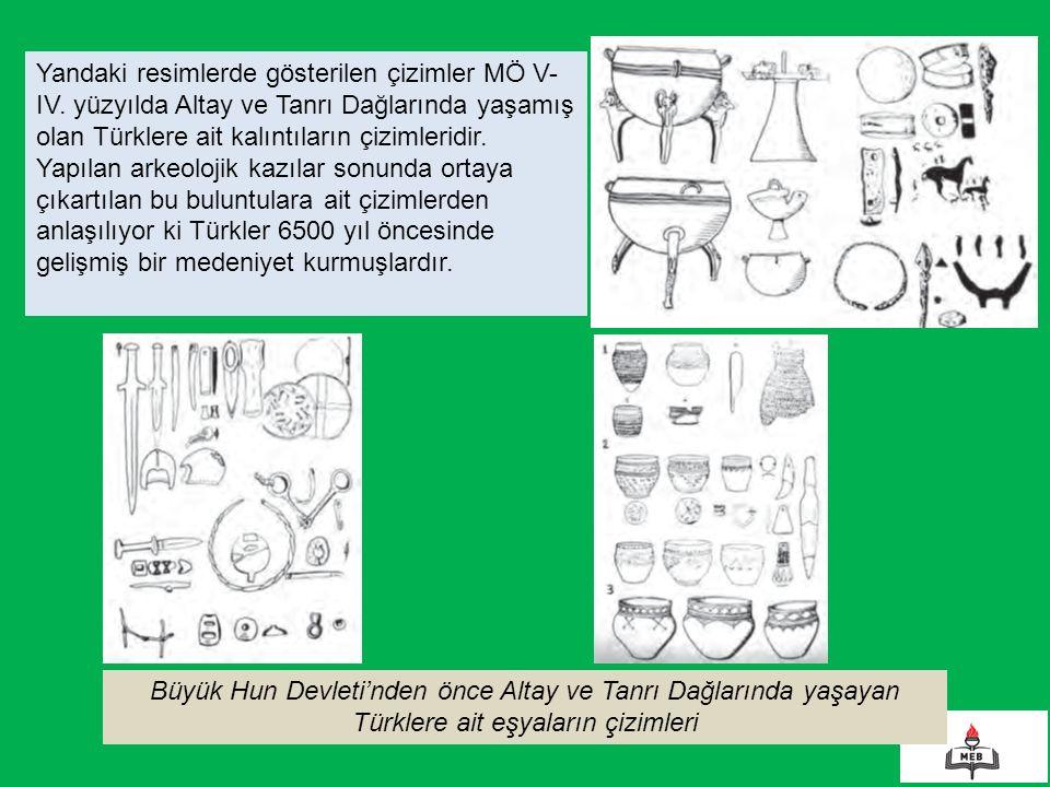 Yandaki resimlerde gösterilen çizimler MÖ V-IV