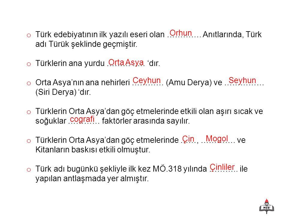 Türk edebiyatının ilk yazılı eseri olan …………