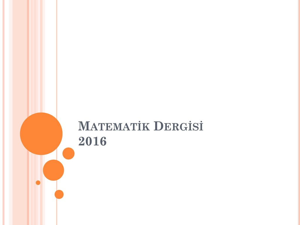 Matematik Dergisi 2016
