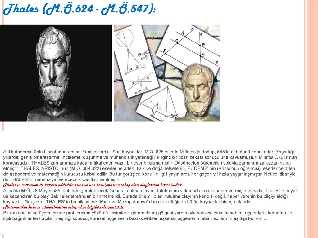 Thales (M.Ö.624 - M.Ö.547):