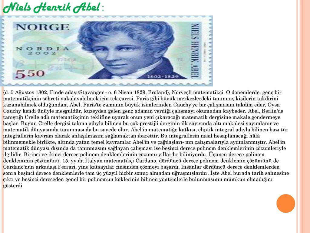 Niels Henrik Abel :